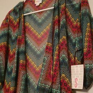 Lularoe Monroe Kimono. Bright Geometric Pattern.